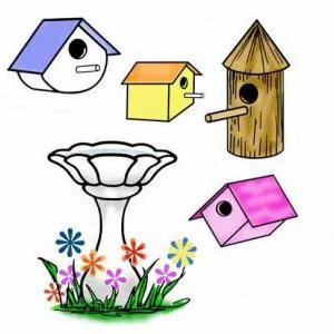 Bird Houses clear stamps It's for t..