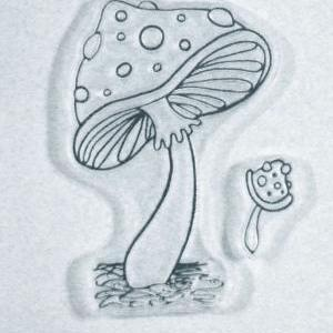 A gem of a Mushroom clear stamps, G..