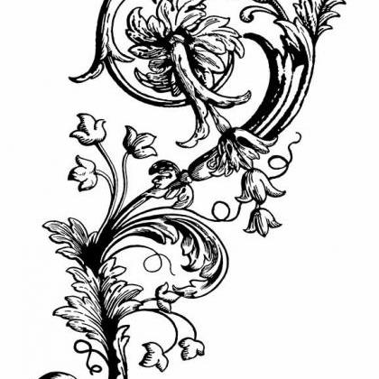 Floral Flourish Clear Stamp, Art St..