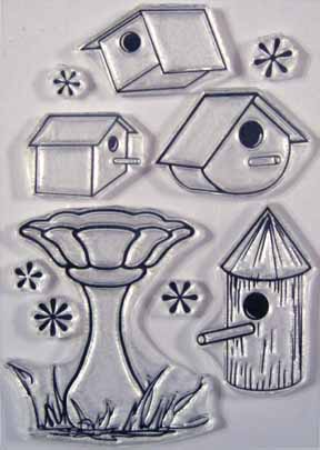 Bird Houses clear stamps It's for the birds! rubber stamps
