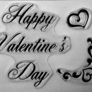 Happy Valentine's Day clear art stamps