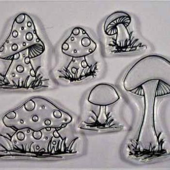 Mushroom stamp set Shrooms to Grow clear stamps