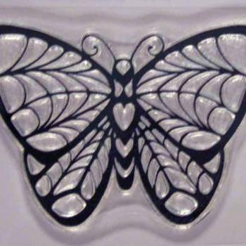 Butterfly, Stainglass look, clear stamp