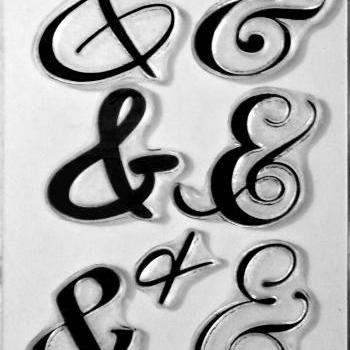 AmpersAnds clear art stamps, rubber stamps